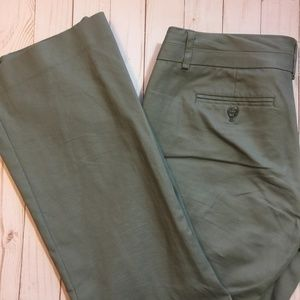 BANANA REPUBLIC Ryan Fit Gray-Green Career Pants 8